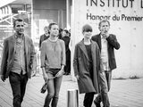 Tournage Sortie d'usine - Eric Lartigau, Bérénice Bejo, Marina Foïs et Charles Berling