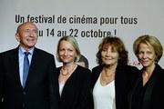 Gérard Collomb, Caroline Collomb, Françoise Nyssen, Diane Kurys et Frédérique Bredin