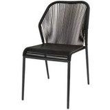 Chaise-scoubidou-fil-noir