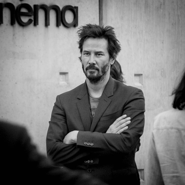 Tournage Sortie d'usine - Keanu Reeves