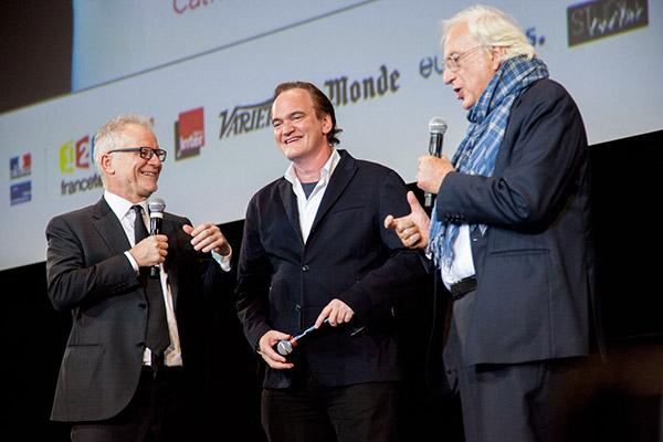 Thierry Frémaux, Quentin Tarantino et Bertrand Tavernier