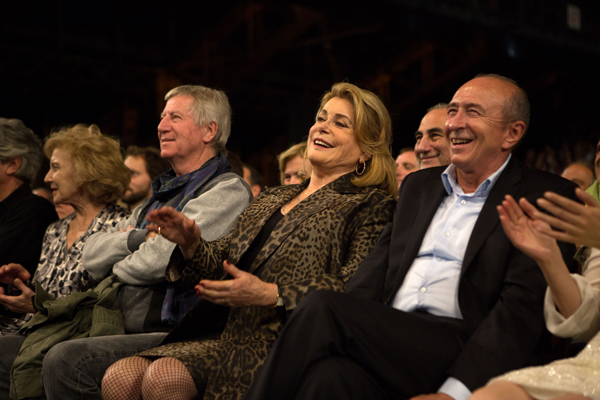 Catherine Deneuve avec Régis Wargnier et Gérard Collomb