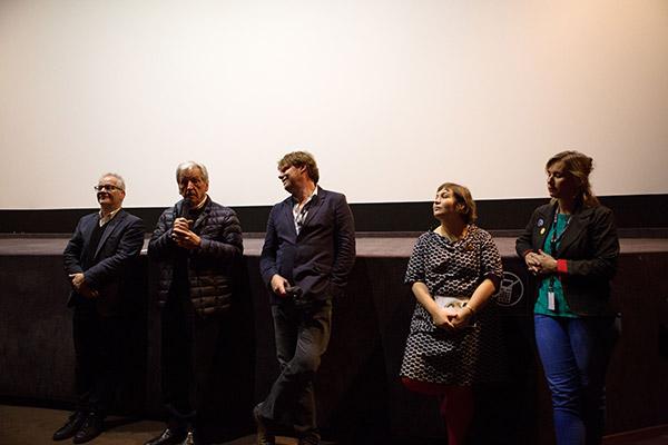 Costa-Gavras, Frédéric Bonnaud et Emilie Cauquy - Cinéma Comoedia