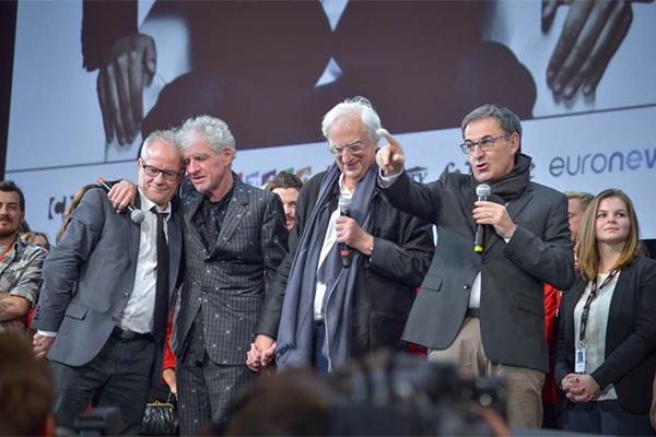 Thierry Frémaux, Christopher Doyle, Bertrand Tavernier et David Kimelfeld