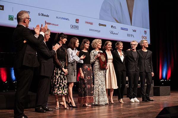 Thierry Frémaux, Costa-Gavras, Nolwenn Leroy, Suzanne Clément, Anaïs Demougeot, Jane Fonda,  Dominique Blanc, Anne Consigny, Vincent Delerme