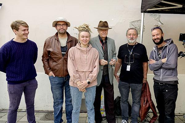 Équipe du tournage des Sorties d'usine